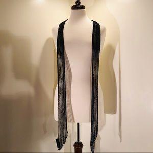 Black Sequin drop scarf